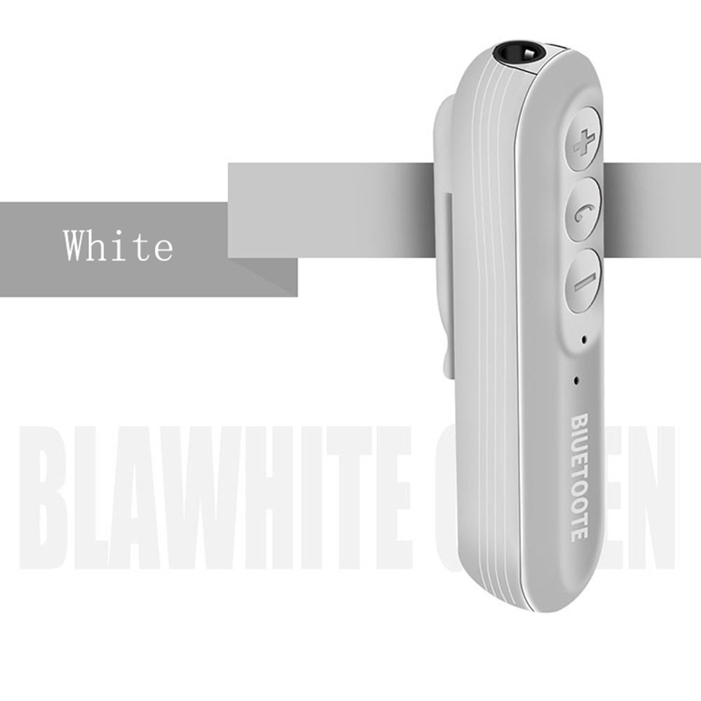 Bluetooth Audio Receiver For Mobile Devices,Bluetooth earbuds Runner Headset,Sport Earphone,Wireless Receiver (White)