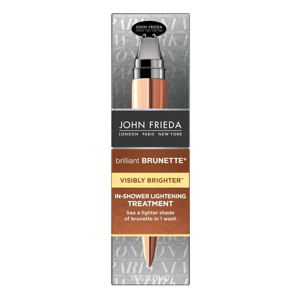 John Frieda Brilliant Brunette Visibly Brighter In-Shower Lightening Treatment, 1.15 Ounce