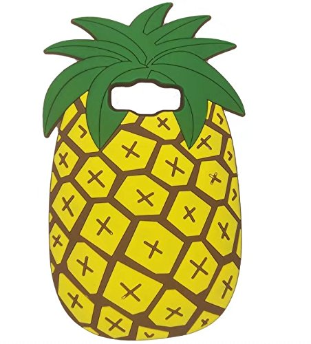 Galaxy J7 Cartoon Silicone Case,3D Pineapple Fruit Design Phone Bag Soft Rubber Cover for Samsung Galaxy J7 2015 (Case Design 3d Silicon)