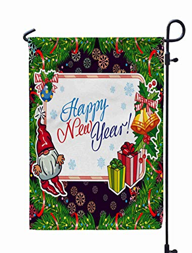 Shorping Welcome Garden Flag, 12x18Inch Square Holiday Card