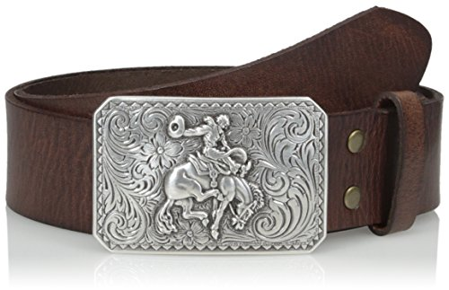 Nocona Men's Brown Basic Bullrider, - Belt Brown Nocona