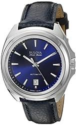 Bulova Accu Swiss Men's 63B185 Mechanical Hand Wind Blue Strap Watch