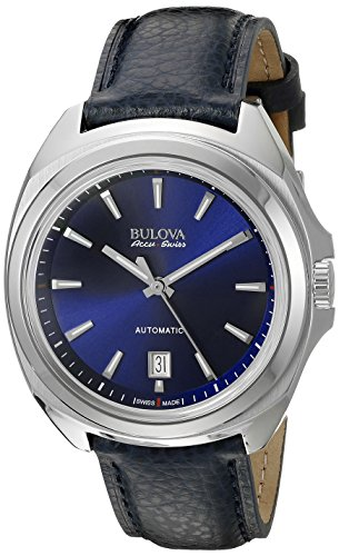 Bulova Accu Swiss Men's 63B185 Mechanical Hand Wind Blue Strap Watch