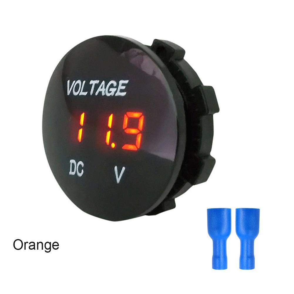 Blue Waterproof LED Panel Digital Voltage Meter Display Tester DC 5-48V Car Motorcycle Auto Truck Campervan Voltmeter