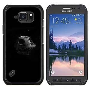 Caucho caso de Shell duro de la cubierta de accesorios de protección BY RAYDREAMMM - Samsung Galaxy S6Active Active G890A - Estrella de la Muerte