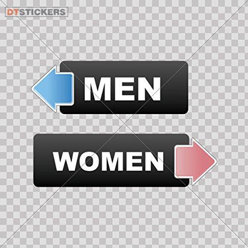 Sticker Wc Restroom Toilette Men Women Sign durable Boat bathroom pictogram label tissue (7 X 2,01 Inches) Fully Waterproof Printed vinyl sticker