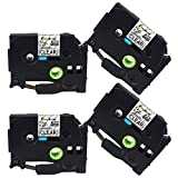 4 Pack P-Touch TZ TZe 12mm Clear 0.47 inch, Compatible Brother Label Tape TZe-131 TZ131, Brother Ptouch Label Maker Tape, Black on Clear TZ Tape, 26.2 Feet (8M)