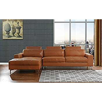 Exceptionnel Modern Large Leather Sectional Sofa, L Shape Couch With Extra Wide Chaise  Lounge (