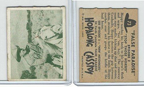 1950 Topps, Hopalong Cassidy, 73 Stop Those Horses ()