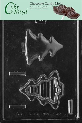 Cybrtrayd Life of the Party C420 Small Tree Pour Box Chocolate Candy Mold in Sealed Protective Poly Bag Imprinted with Copyrighted Cybrtrayd Molding Instructions