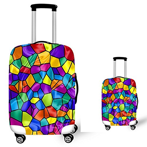 ARHSSZY 3D Travel Bag Cover Suitcase Protective Cover Luggage Case Protector Portable Travel Accessories 18-28 inch anti-dust trolley case covers