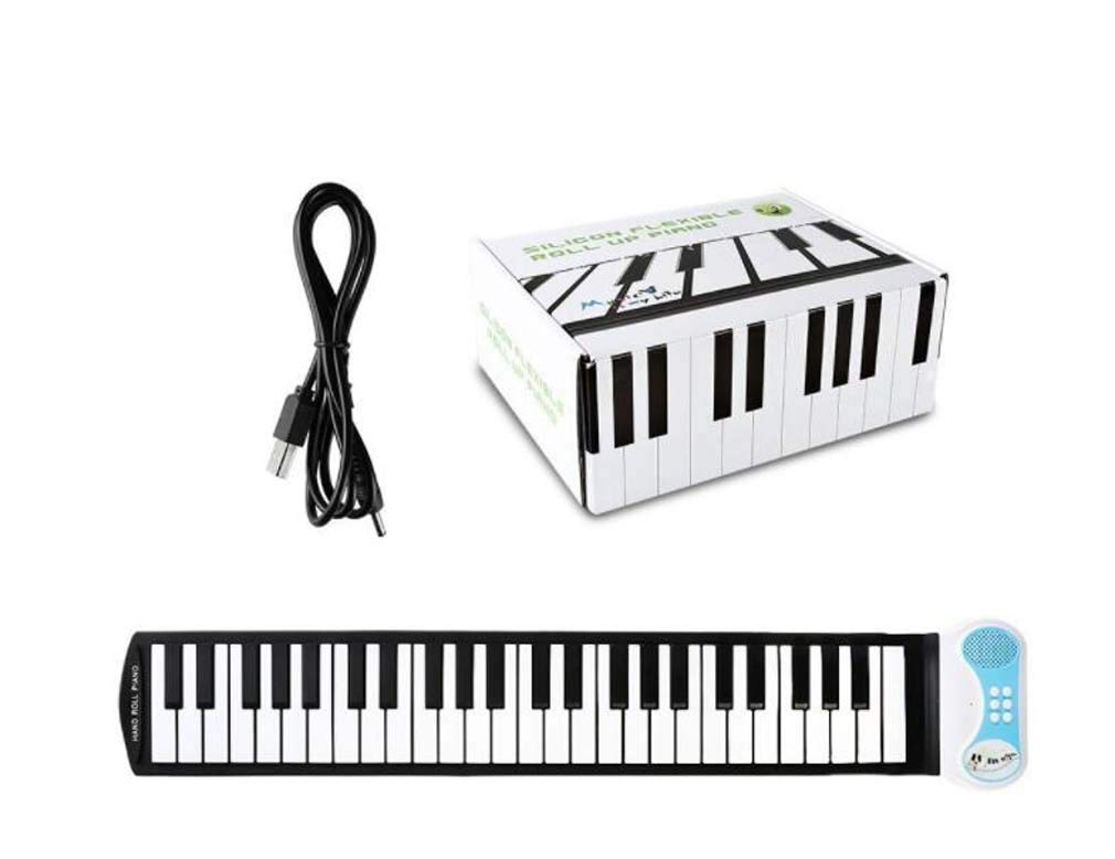 CE-LXYYD 49-Key Educational Electronic Digital Music Piano, Portable Keyboard w/Recording Feature Hand roll Piano, 8 Different Tones, 6 Educational Demo Songs & Build-in Speaker by CE-LXYYD (Image #2)