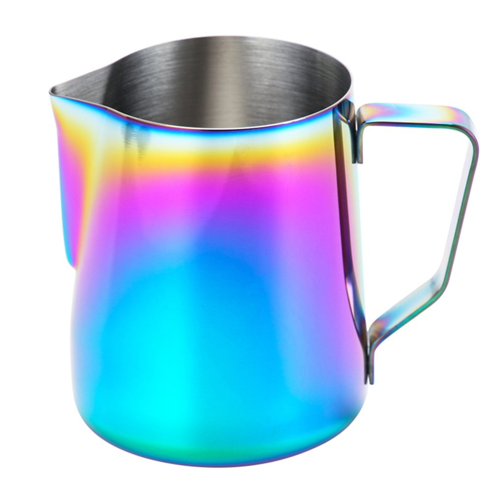 Milk Frothing Pitcher – wehomeステンレススチールコーヒーMilk Frothing Pitcher Creamer Frothing Cup forエスプレッソカプチーノラテメーカー 20-Ounce COMIN18JU072209 20-Ounce  B06VYCDTCN