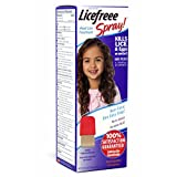 Licefreee Spray Instant Head Lice Treatment Bottle with Metal Nit Comb, 12 Fluid Ounce