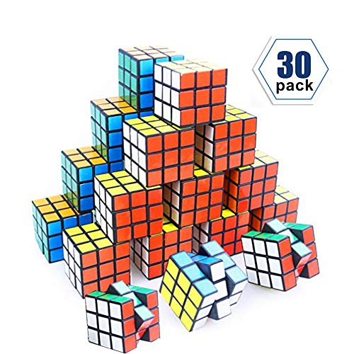 (YCS Mini Cube, 30 Pack Party Puzzle Toy,Puzzle Game Set for Boy, Girl, Kid and Child, Magic Cube for Birthday Gift)