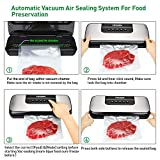 Vacuum Sealer Machine - 80Kpa Automatic Food Sealer Machine for Food Saver Storage with Dry and Moist Modes, Air Sealing System, Compact Design, Starter Kit, Roll/Bags and Hose