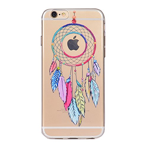 iPhone 6 / 6S Plus Coque , Leiai Mode Wind Chimes Ultra-mince Transparent Clear Silicone Doux TPU Housse Gel Etui Case Cover pour Apple iPhone 6 / 6S Plus