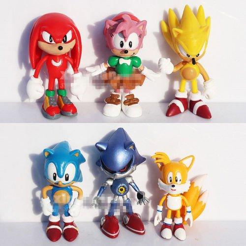Sonic The HEDGEHOG Characters PVC 2.2' 6pcs Figure Set