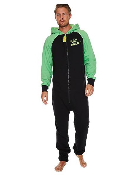 Hulk pijama, Oscuro para hombre brilla en la oscuridad Hulk incluye el mono con capucha