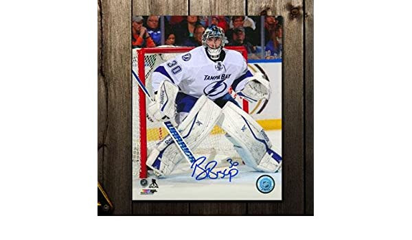 Ben Bishop Signed Picture - WHITE JERSEY 8x10 - Autographed NHL Photos at  Amazon s Sports Collectibles Store 70d8618ef