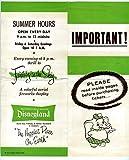 information tickets - Disneyland Important Ticket Information Brochure 1950's + Auto Park Ticket