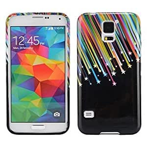 LHY Colorized Meteor Design Ultra-slim Smooth Soft Gel TPU Case for Samsung Galaxy S5 I9600