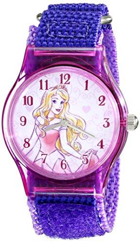 Disney Kids' W001703 Sleeping Beauty Analog Display Analog Quartz Purple Watch