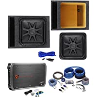 Kicker L7S152 15 Solobaric L7S Car Subwoofer+Vented Box+Mono Amplifier+Amp Kit
