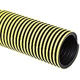 "Flexaust 5991500250 Statpath Plus Polyethylene Flexible Hose, 18 psi, 50' Length, 1.5"" ID, Yellow"