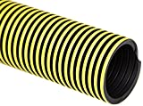Flexaust 5991500200 Statpath Plus Polyethylene Flexible Hose, 18 psi, 25' Length, 1.5'' ID, Yellow