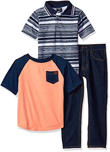 American Hawk Boys Polo, T-Shirt and Pant Set (More Styles Available)