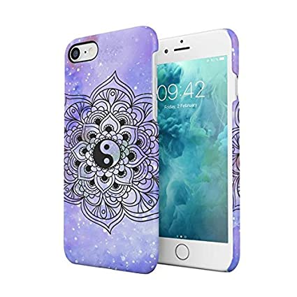 Amazon Com Yin Yang Hindu Henna Mandala Purple Space Cosmic Henna