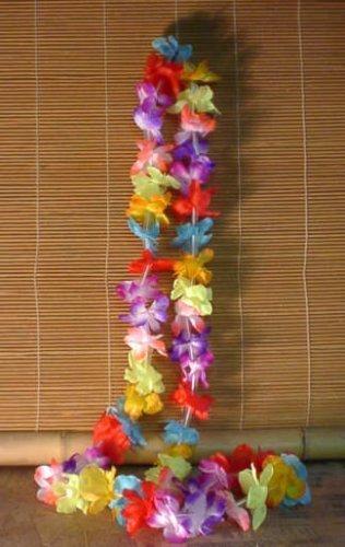 Small Hawaiian Flower Leis (1 Dozen Per Package) by TikiZone Dozen Lei