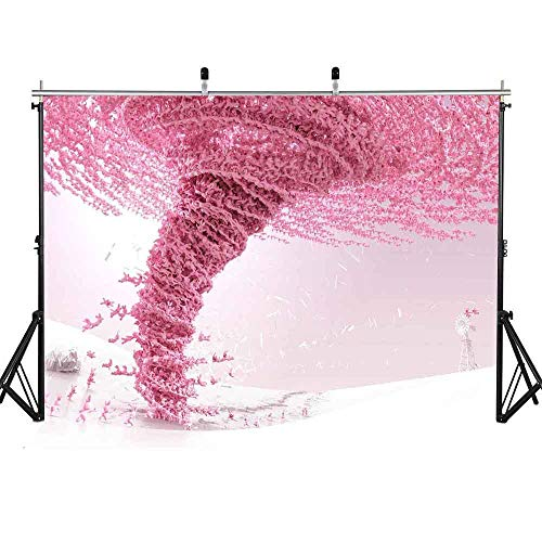 FLASIY Pink Tornado Backdrop 7X5ft Abstract Art Photography Background Themed Party Studio Photo Shooting Props GEAY116 (Tornados Pink Art)
