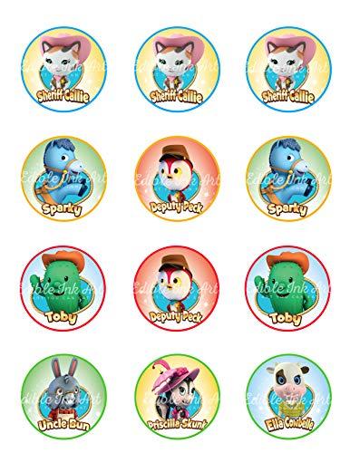 Sheriff Callie Wild West Disney Edible Cupcake Toppers (12 Images) Cake Image Icing Sugar Sheet Edible Cake Images]()