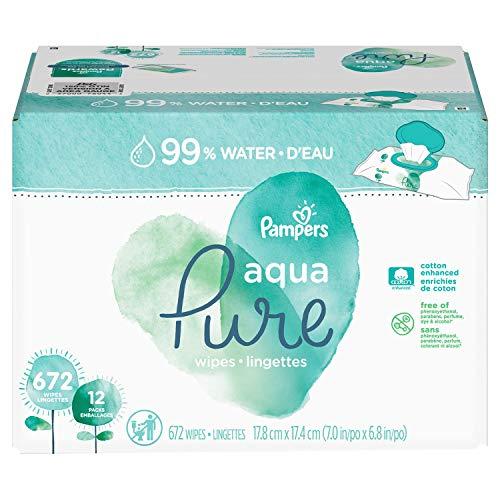 an Item of Aqua Pure Baby Wipes (672 ct.) - [Bulk Saving]