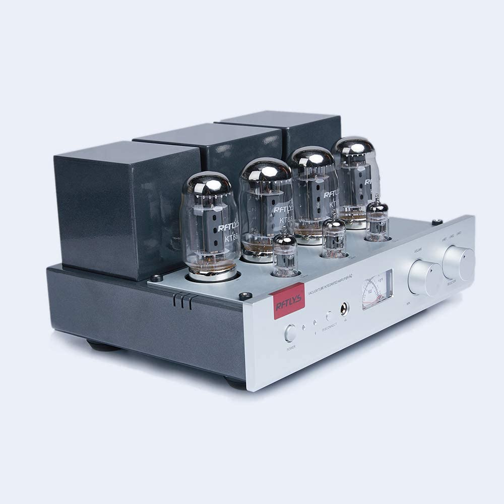 RFTLYS - A2 - KT88 - Vacuum Tube Stereo Integrated Amplifier with Headphone Amp Output Bluetooth Input