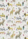 Zoo Animals Rolled Gift Wrap Paper