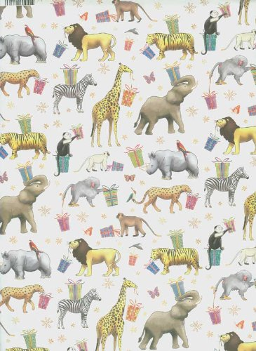 amazon com zoo animals rolled gift wrap paper health personal care