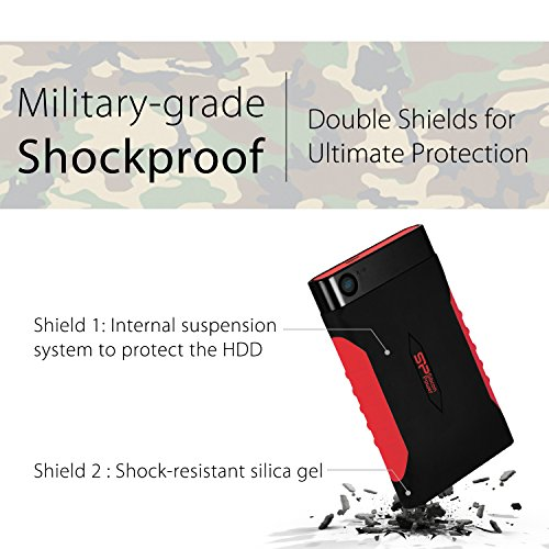 Silicon Power 1TB Rugged Armor A15 Military-grade Shockproof USB 3.0 2.5-inch Portable External Hard Drive for PC, Mac, Xbox One and Xbox 360 by Silicon Power (Image #3)