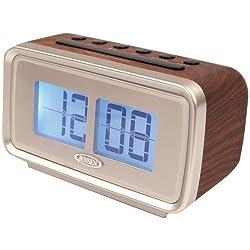 Jensen JCR-232 AM/FM Dual Alarm Clock with Digital Retro Flip Display by Jensen