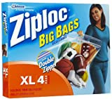 SC Johnson Ziploc Big Bags, XL, 24 x 20 -Inch, 4 Bags