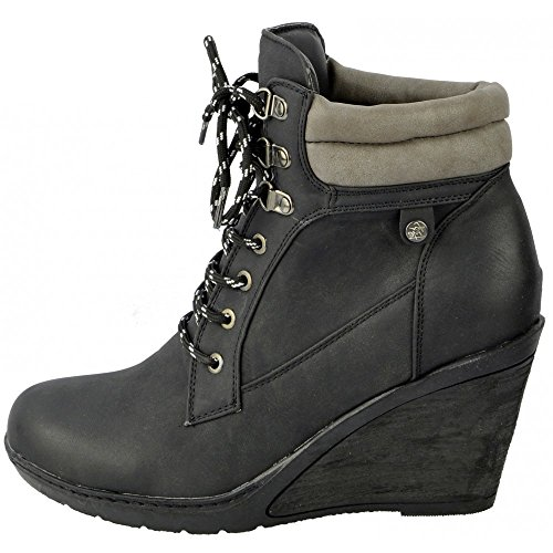 Kick Footwear Womens Water proof Walking ankle boot schwarz