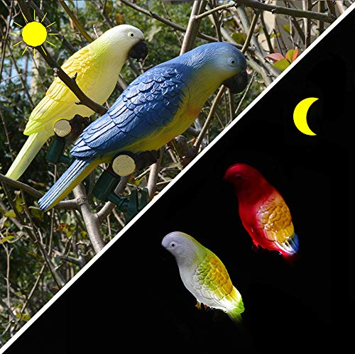 Cheap Garyesh Parrot Lamp Solar Lights Outdoor Christmas Decorations LED Solar Light Tree Decoration with Flexible Clip 4 Pack