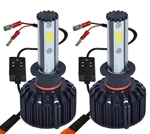 ICBEAMER H3 LED COB Light Bulb Kit Replace HID or Halogen Lamp [Color:6000K White + 30000K Dark Blue] 2 yrs Warranty -