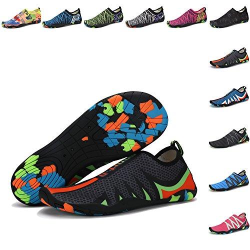 Pengcheng Mannen Vrouwen Water Sportschoenen Huid Barefoot Sneldrogend Aqua Yoga Sokken Instappers Voor Zwemmen Strand Zwembad Surf 102 # Zwart