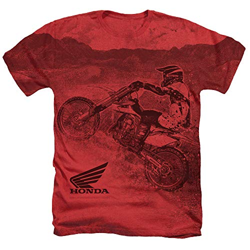Price comparison product image Honda Motorcross Unisex Adult Sublimated Heather T Shirt for Men and Women, Small