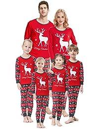 5c4c9f44ea Christmas Family Matching Pajamas Set Santa's Deer Sleepwear for The Family  Boys and Girls