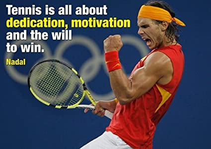 Rafael Rafa Nadal 6 Spanish Professional Tennis Player Legend Champion Poster
