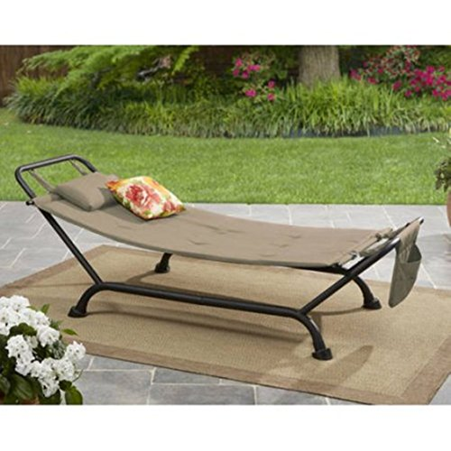Hammock With Stand Cushion Backyard Porch Lounge Bed Outdoor